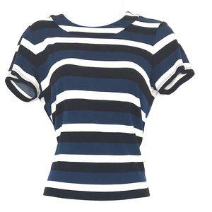 Ann Taylor Shirt Women's Size S Blue White Black S